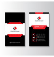 vertical modern professional business card vector image vector image
