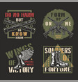 vintage military colorful badges vector image vector image