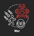 war chalk concept icon military action idea vector image