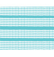 white horizontal pearls patterns on turquoise vector image