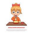 wholesome breakfast poster vector image vector image
