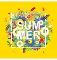 Summer sale floral frame for your design vector image