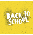Back to school poster design with yellow vector image