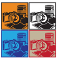 camera and lenses vector image