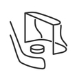 Hockey line icon vector image
