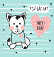 sweet dog card vector image