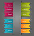 web bookmarks vector image