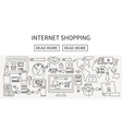 Worldwide shipping and delivery online shopping vector image