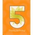 Happy birthday five card vector image