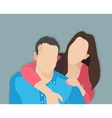 married couple vector image