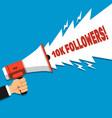 10k followers banner for social networks vector image