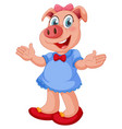 a pig female character vector image