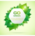 Abstract go green with leafs vector image