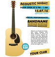 Acoustic night performance poster in your club vector image vector image