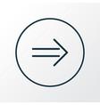 arrow sign icon line symbol premium quality vector image vector image