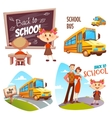 Back to school banner set vector image