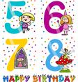 birthday cartoon design for girl vector image
