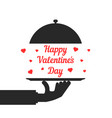 black hand serving happy valentine day vector image vector image