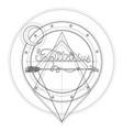 blackwork tattoo flash sacred geometry arrow vector image