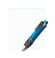 blank note paper with pen vector image vector image