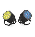 blue and yellow disco light vector image