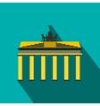 brandenburg gate icon in flat style vector image