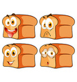 Bread with facial expression vector image vector image