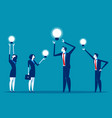 business team with ideas working concept vector image vector image