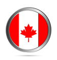 Canada flag button vector image vector image