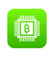 chip icon digital green vector image