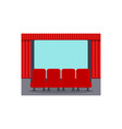 cinema seats flat objects vector image vector image