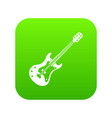 classical electric guitar icon digital green vector image
