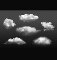 clouds realistic blue cloudy sky weather elements vector image vector image