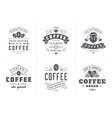 coffee quotes vintage typographic style vector image
