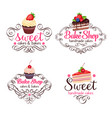 cupcake and cake vector image