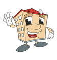 cute smiling house 2 vector image