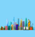 detailed flat city vector image vector image