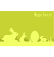 easter eggs bunny green background v vector image