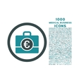Euro Accounting Case Rounded Icon with 1000 Bonus vector image vector image
