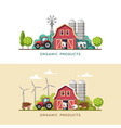 Farming Farm fresh products vector image vector image
