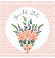 flowers bouquet ornament wedding save the date vector image vector image