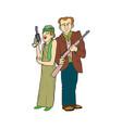 gangster cartoon character design vector image vector image