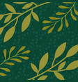 green branches leaves foliage natural floral vector image