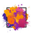 grunge abstract paint brush colorful background vector image vector image