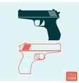 Gun icon isolated vector image vector image