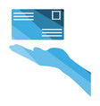 hand holding letter icon vector image
