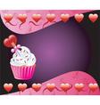 heart cupcake vector image vector image