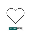 heart love icon outline style eps 10 vector image vector image