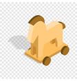horse trojan isometric icon vector image vector image