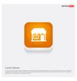 house icon orange abstract web button vector image